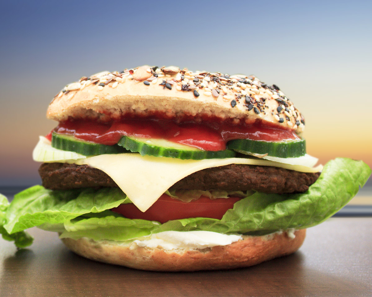 Cheeseburger Bagel - Burger Bagel