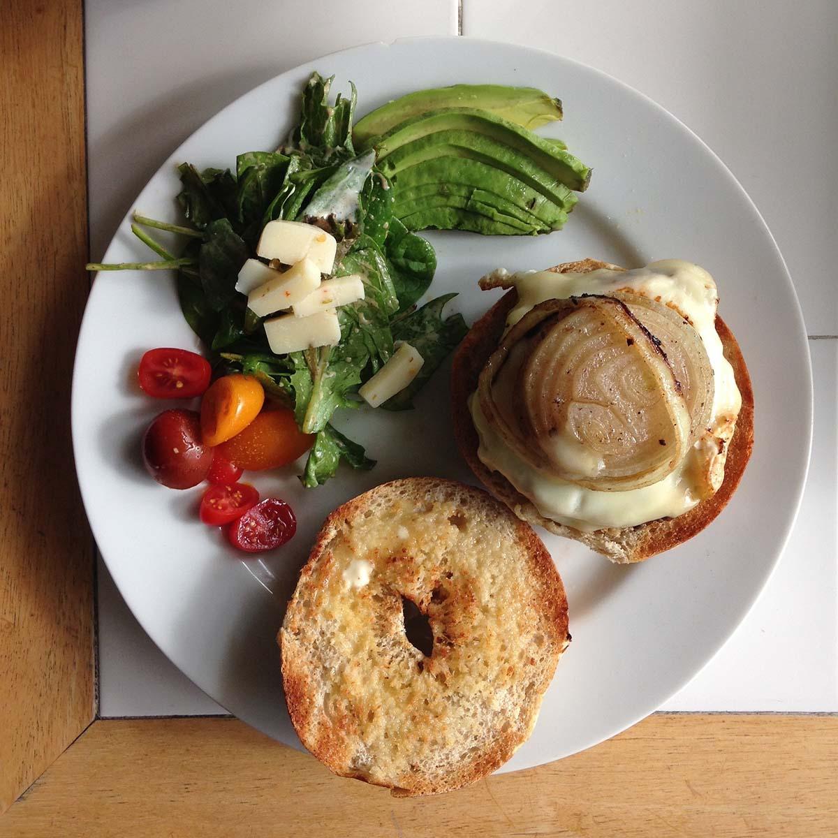 Cheese Bagel - Bagel Vegetarian