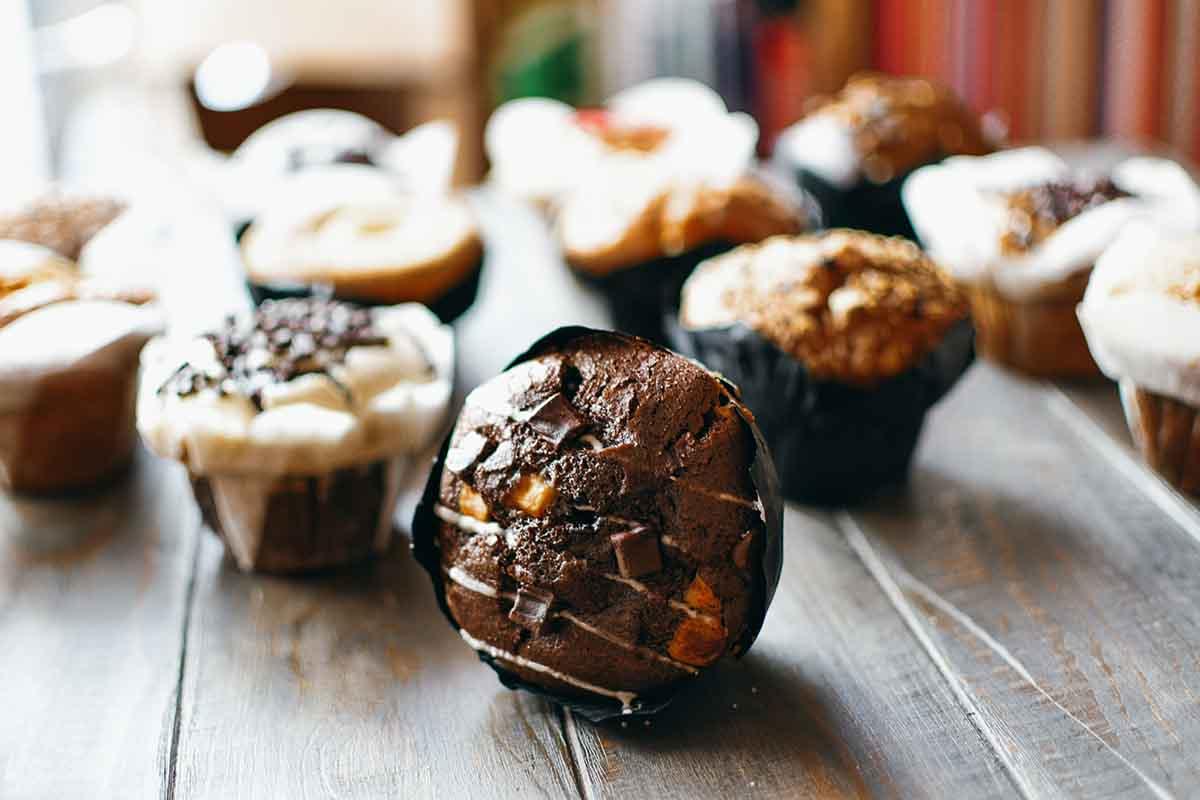 Schoko Muffin im Bagelshop