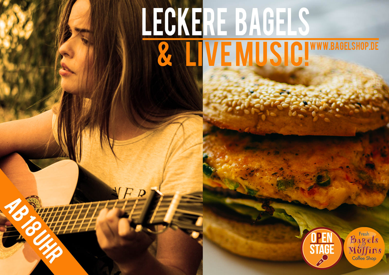 Open Stage: Live Music & leckere Bagels